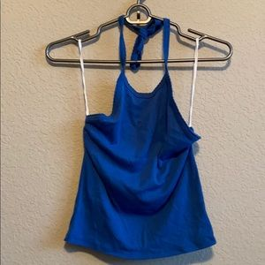 American eagle royal blue halter top size small
